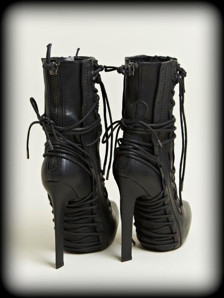 Boots…buckles…belts outside…