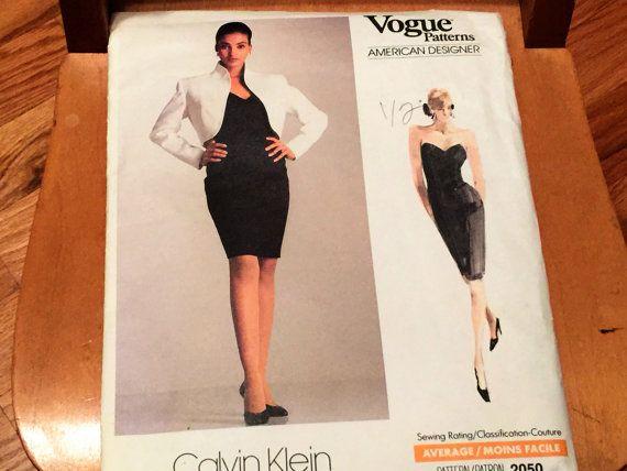 Vintage Vogue Pattern Calvin Klein Sewing Bolero Jacket Fitted