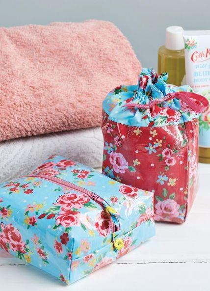 Laminated Floral Wash Bags