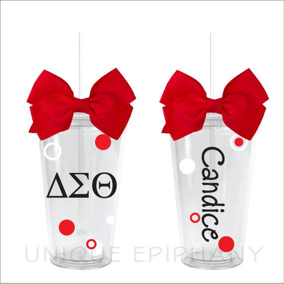 Delta Sigma Theta Greek Letters Tumbler by UniqueEpiphany on Etsy, $13.00