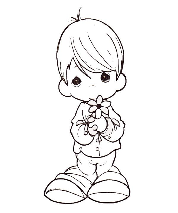 precious moments coloring pages cow - photo#26