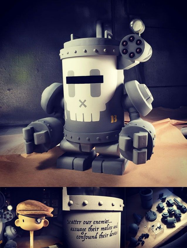 """Huck Gee: """"DAME #11"""" / Кастомы (Customs) / Всё о дизайнерских виниловых игрушках - Vinyltoys.kz"""