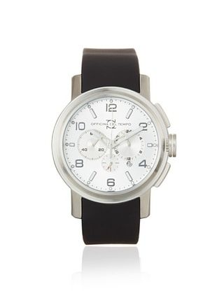 Officina del Tempo Men's OT1032/111AN Neat Black Chronograph Watch
