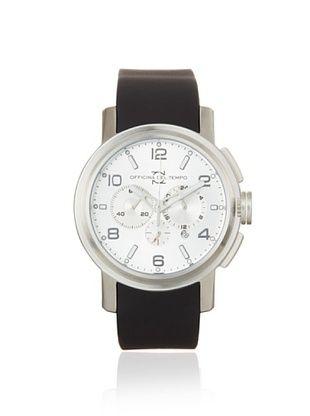 Officina del Tempo Men's OT1032/111AN Neat Black Chronograph Watch