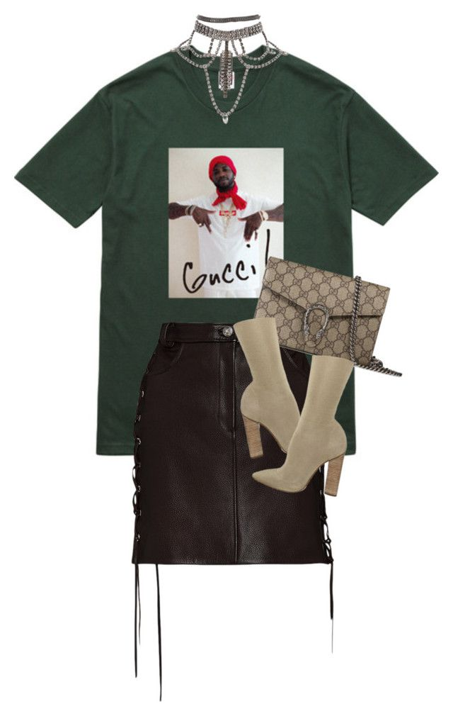 """""""Untitled #285"""" by qazx ❤ liked on Polyvore featuring Gucci, Magda Butrym and …"""