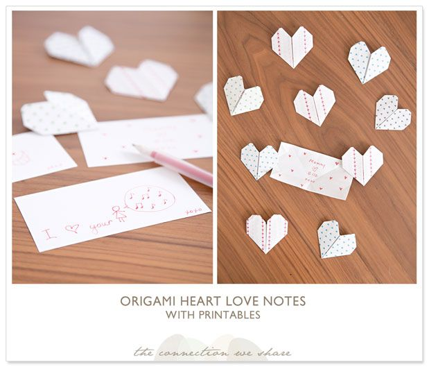 Origami Heart Love Notes – How To Make An Origami Heart » The Connection We Share