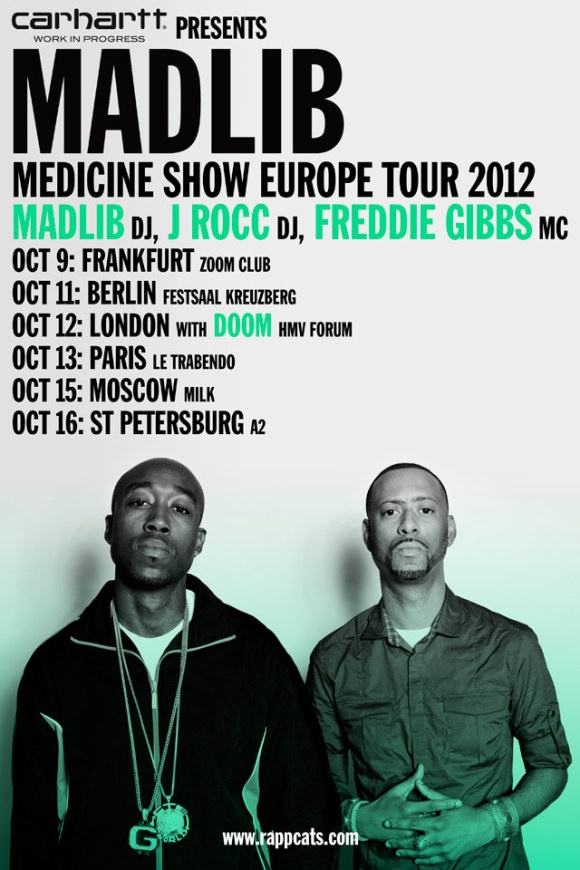 Carhartt presents: Madlib Medicine Show Europe Tour 2012 - UPDATE!   Carhartt WIP