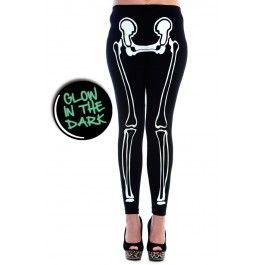Legging Gothique Psychobilly Squelette Fluorescent