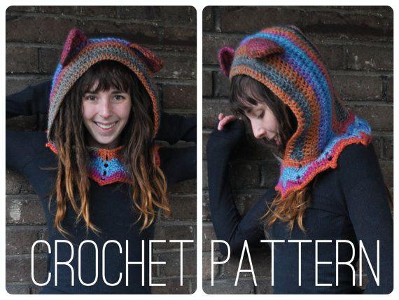 Crochet Pattern  Grateful Dead Dancing Bear Hood от OfMars на Etsy