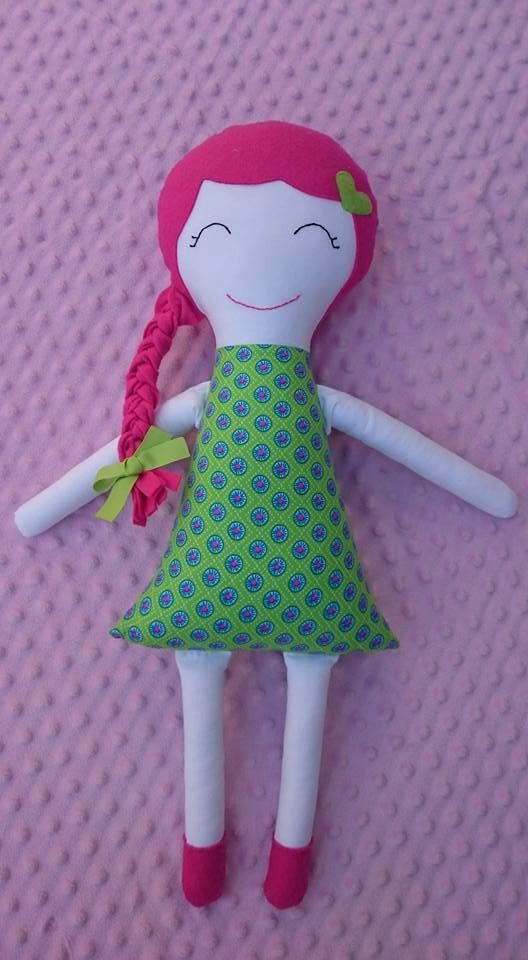 Crystal Healing/Heart Chakra Doll by TheTuppenceTree on Etsy