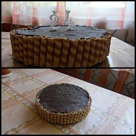 Túró rudi torta rolettivel