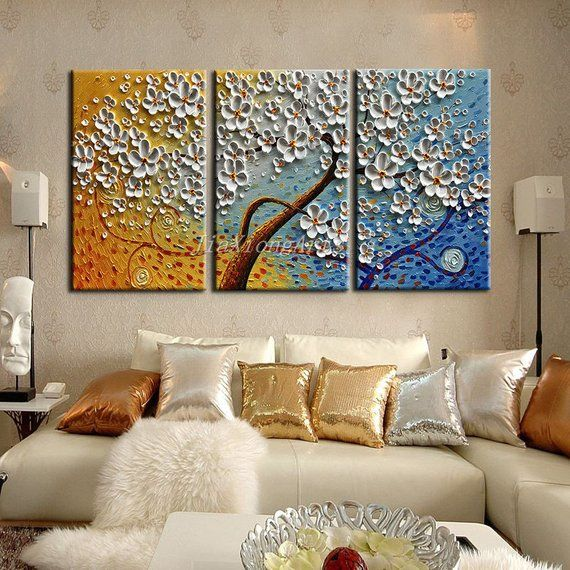 Textured painting abstract gift wall art panels 3D Painting wall art panels Abstract acrylic painting Texture wall hanging set