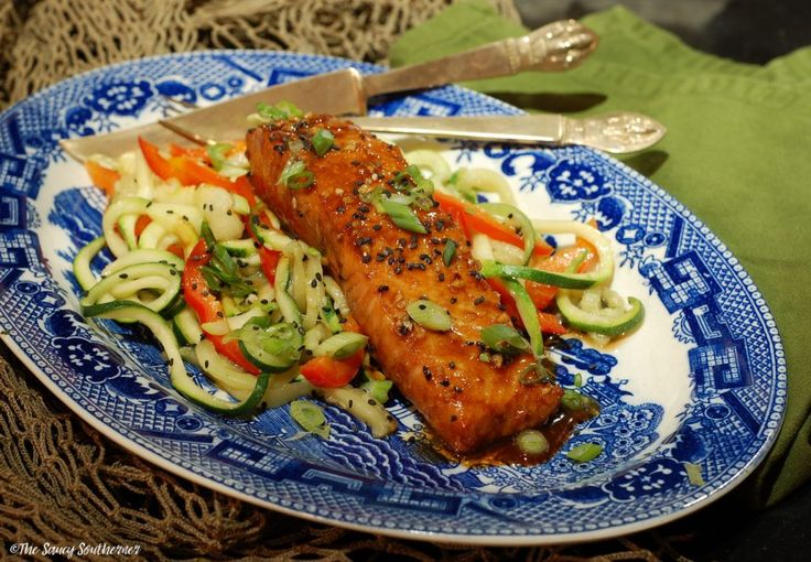 Sweet & Spicy Sriracha Salmon  | The Saucy Southerner