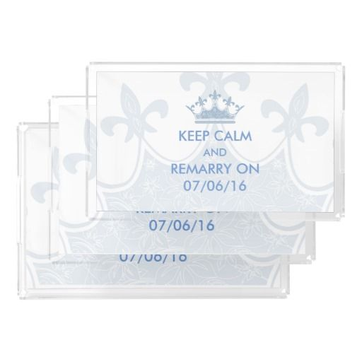 Wedding Vows Renewal Keep Calm Personalized Rectangle Serving Trays