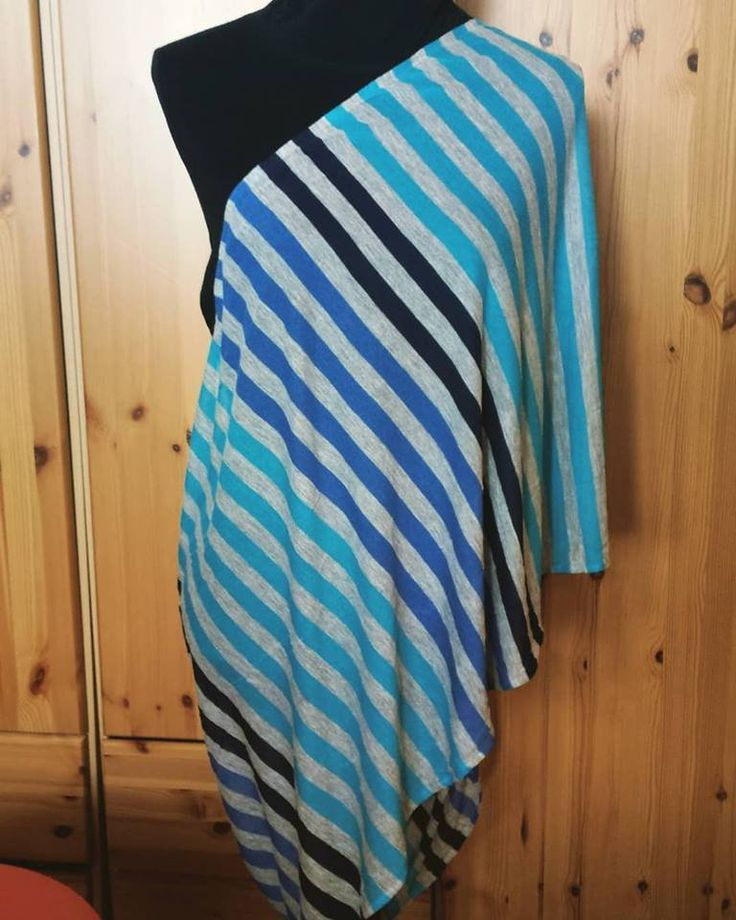 Nursing Scarf, modal jersey, only one made, striped blue scarf, multi use, car seat cover, nursing cover, extra large by UchiWraps on Etsy
