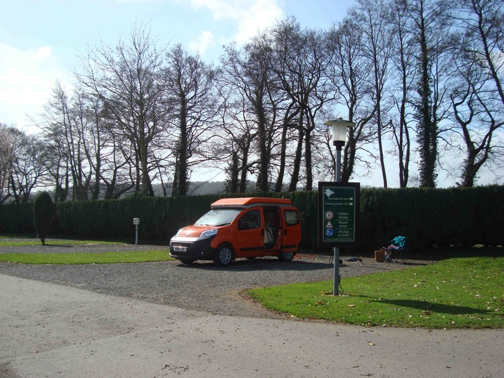 Wheelhome Vikenze pitched in Poston Mill Park - a fantastic campsite for tourers, motorhomes and lodges in the Golden Valley, not too far from Hay-on-Wye