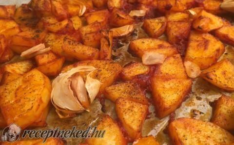 Paradicsomos tepsis krumpli recept fotóval