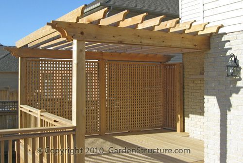Deck pergola privacy screen woodworking projects plans for Building a privacy screen for your deck