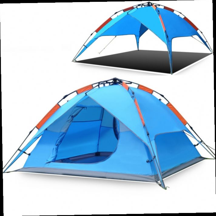 49.70$  Buy now - http://alit7j.worldwells.pw/go.php?t=32591515443 - 2015 New Hewolf Automatic Tent High Quality Double Layer Prevent Rainstorm Waterproof 3-4 Person Barraca De Camping Grande Toldo