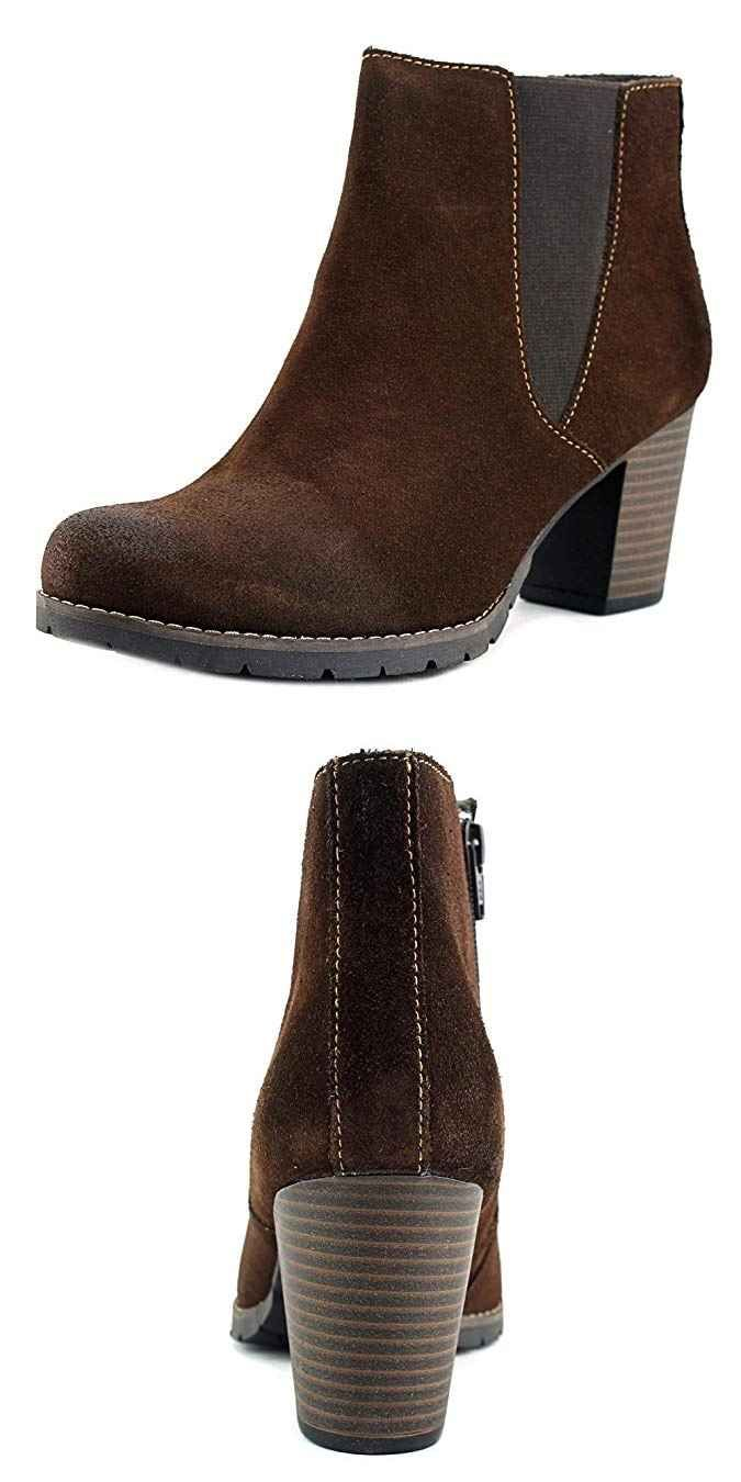 Clarks Women/'s Pause Camelia Brown Suede Boot