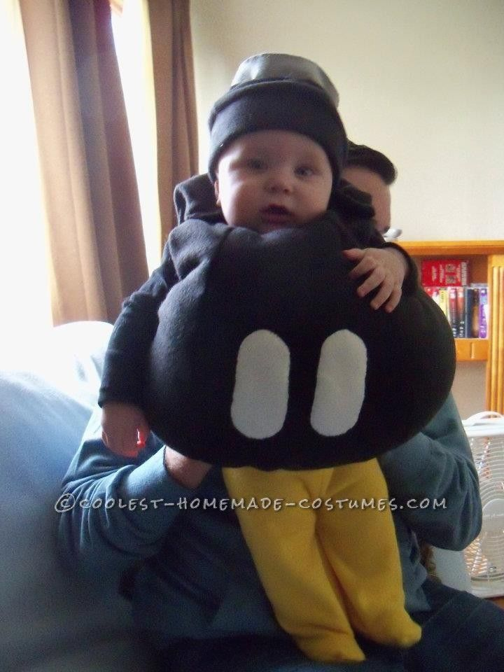 Coolest Homemade Mario Brothers Bob-Omb Costume... This site is the Pinterest of costumes