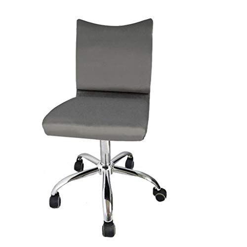 Manxivoo Low Back Computer Task Office Desk Chair With Swivel Casters Armless Office Chair Gray C Office Chair Chair Leather Seat