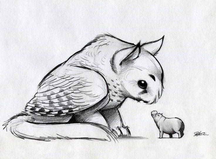 Картинки надписями, рисунок необычные животные