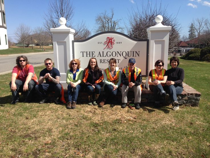 On Earth Day, The Algonquin Team did a property wide clean-up in the morning, where they filled up 10 full bags of garbage from the resort grounds and 7 full bags of garbage from the Algonquin Golf Course grounds.