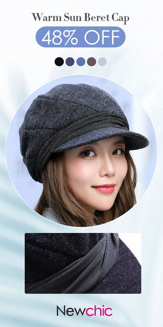 eb838ec3cf5 Womens Vogue Wild Casual Warm Cotton Sun Bucket Cap Beret Cap Outdoor  Travel Flat Cap  vogue  leisure  warm  cotton  caps  fashion