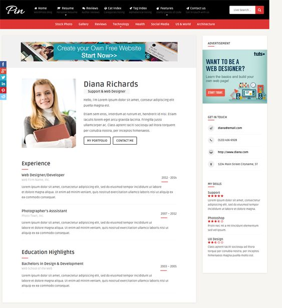 8 Best Images About 8 More Of The Best Resume, Vcard, & Cv