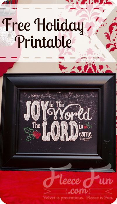 I am putting this on my mantle! free joy to the world printable!