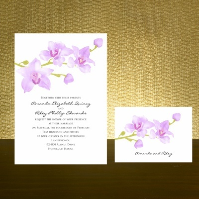 Exotic Orchid Wedding Invitation