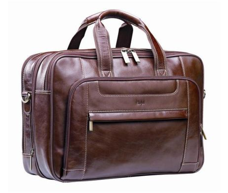 Nevada Italian Leather Computer Bag / Material: Leather / Branding Options: Embossing #brandability #corporategifts #laptopbags