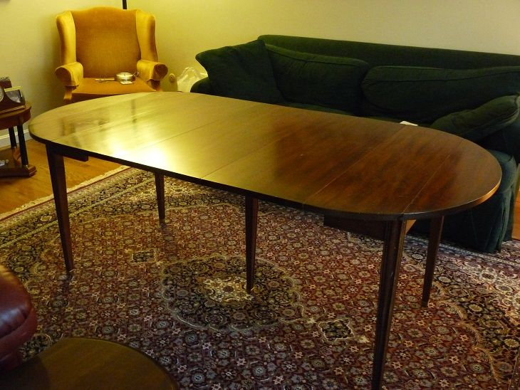 Charming Solid Mahogany Henkel Harris Dining Table With Drop Leaves ~$350, Hopkinton