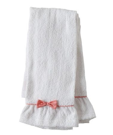 Take a look at this Pink Bow Terry Towel - Set of Two by Jessie Steele on #zulily today!
