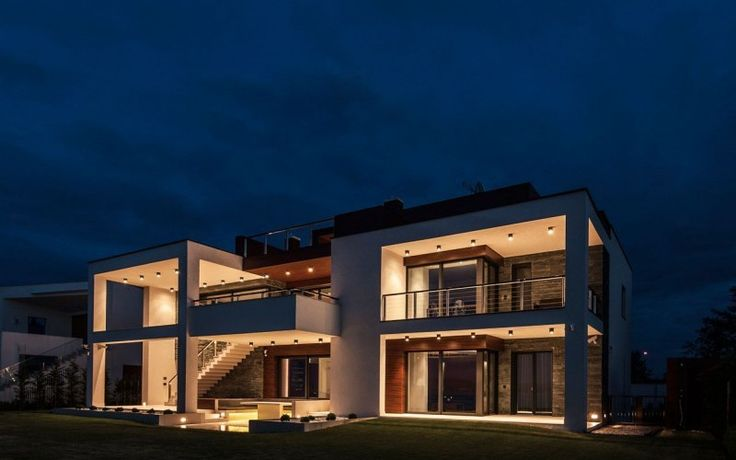 Towering Hungary Home with Modern Exterior