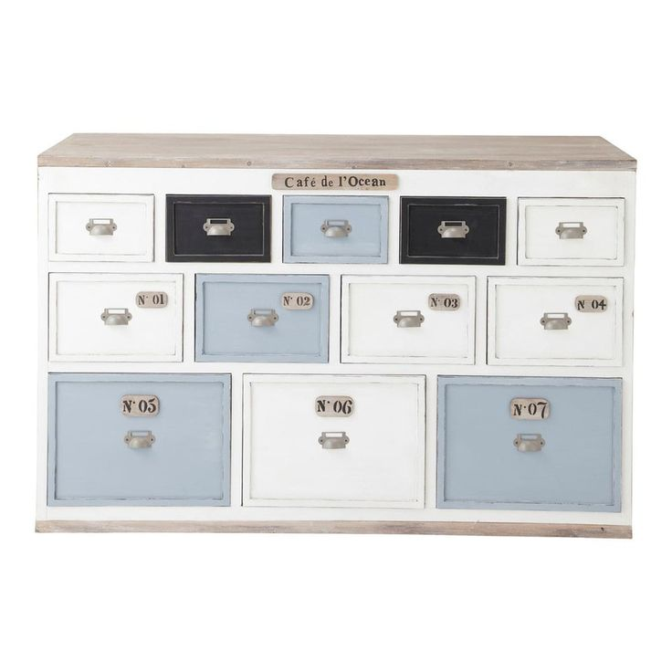 Comptoir multi tiroirs meuble ... - Molene