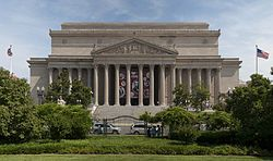 The National Archives Building, known informally as Archives I, is the original headquarters of the National Archives and Records Administration. It is located north of the National Mall at 700 Pennsylvania Avenue, Northwest, Washington, D.C..