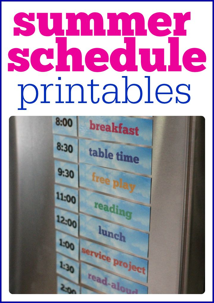 Create your own summer schedule with these free printables!   Activities are customizable and interchangeable to fit the needs of your family.