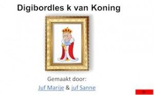 De k van koning digibordles.