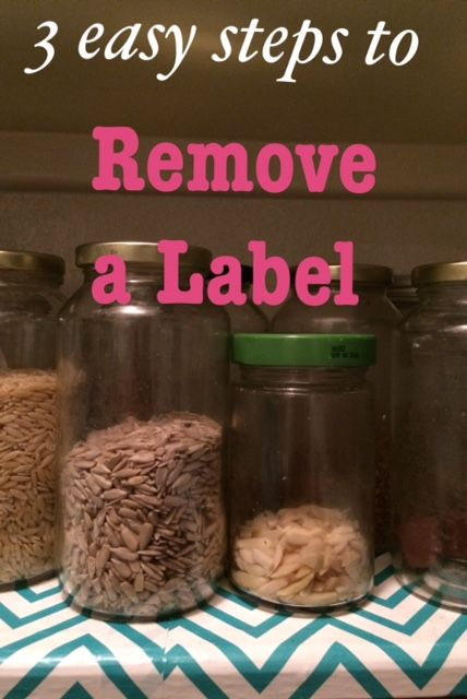 This is hands down the easiest method from getting those sticky labels of bottles and jars! www.kellygreenconsultant.com