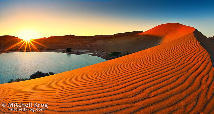 Sossusvlei Sunset Namibia Panoramic by Mitchell Krog on 500px