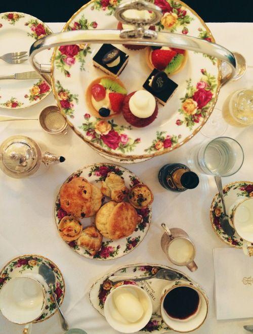 high tea at the tea room