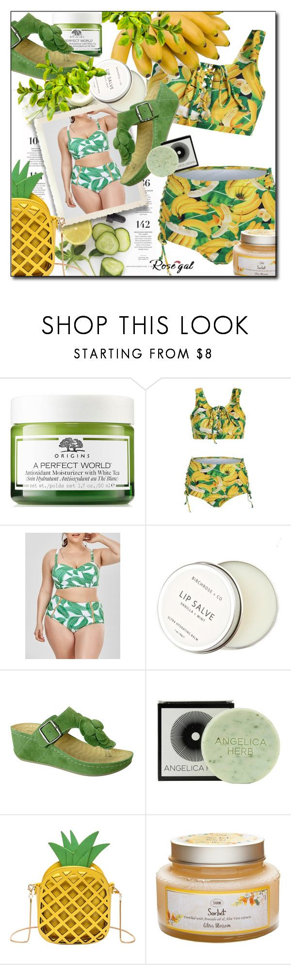 """Plus size bikini"" by pal-0 ❤ liked on Polyvore featuring Martha Stewart, Birchrose + Co., David Tate and Jayson Home"