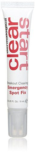 dermalogica Clear Start Breakout Clearing Emergency Spot Fix-0.3 oz:   Powerful concentrated gel spot treatment formula wipes out individual pimple-causing bacteria deep within the pore to clear your breakout fast