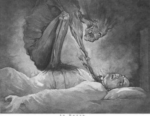 """Incubus: demónio da Idade Média que cai sobre pessoas dormindo. Ele é creditado uma vez, o que é conhecido hoje como """"paralisia do sono"""", que é quando você está dormindo e sentir alguém vigiando você, mas você não pode falar ou se mover."""