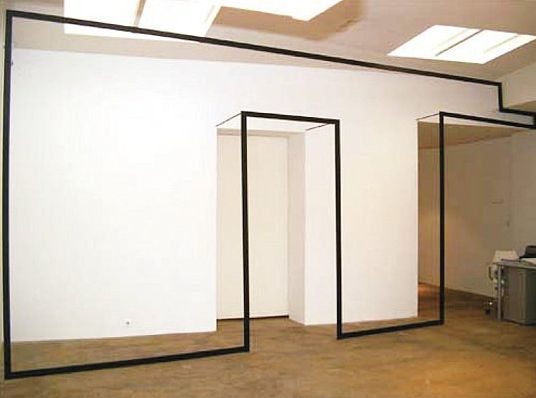iheartmyart:  Jose Davila, Wall Games, 2004, aluminum structure