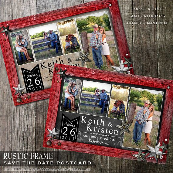 collage postcard save the date red framed save the date photo save the date wedding printable card diy postcard save the date trendy