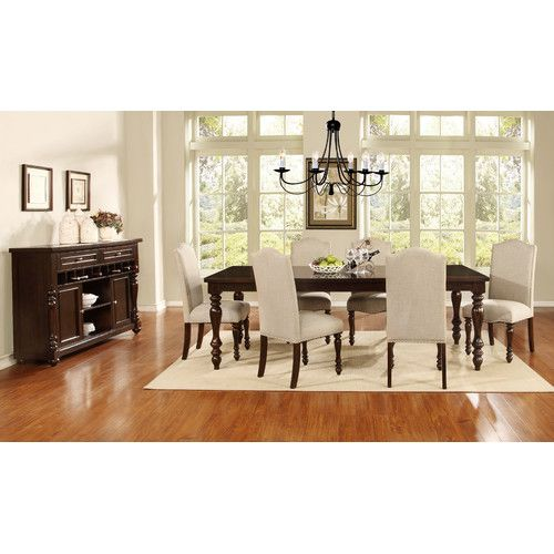Classic Styling And Elegant Finish Make The American Heritage 7 Piece Dining Set A Family Heirloom Cushion Seat Back Chairs Stylish
