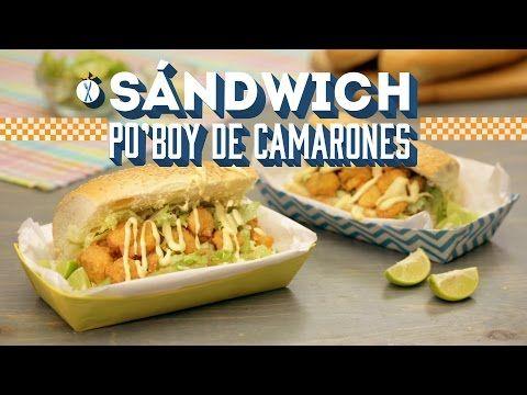 ¿Cómo preparar Sándwich Po'boy de Camarones? - Cocina Fresca